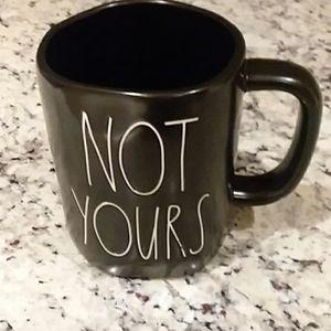 NWT Rae Dunn Not Yours black mug